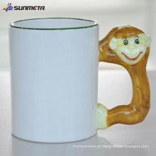 Macaco da caneca em branco animal da sublimação