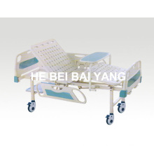 a-84 Movable Double-Function Manual Hospital Bed