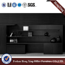 Wooden Glass Doors Office Bookcase Modern Melamine Office Furniture (HX-6M285)
