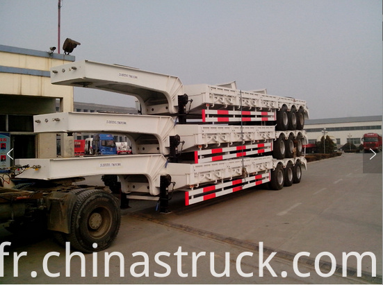 3 axle 60Ton gooseneck low bed trailer picture 1