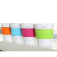 taza de café exprés con banda de silicona