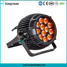 DMX 12PCS 14W a prueba de agua luces LED Rgbawv 6-en-1 LED PAR luz