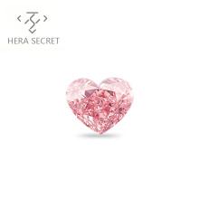 ForeverFlame fancy pink 3.5ct 9.6mm*8mm vvs Heart Cut diamond CVD CZ 18k Pt950 Moissanite Haute couture ring