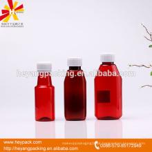 Venda quente 100 / 180ml garrafa de plástico farmacêutica