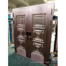 Top Design de luxo Porta de cobre