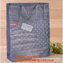 PP gift packaging bag, square handle bag, PP material portable shopping gift packaging bag