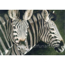 Pintura a óleo da zebra na lona