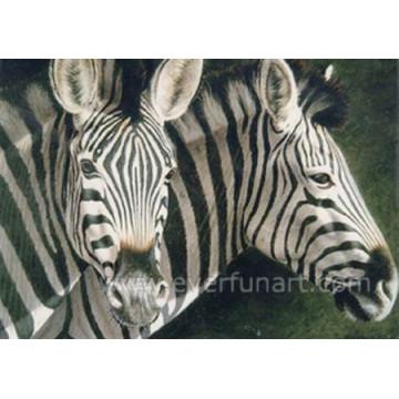 Картина маслом зебры на холсте