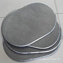Disco de filtro com malha de arame de aço inoxidável