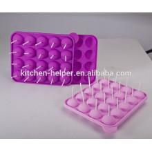 20 Stück umweltfreundliche heiße verkaufende Silikon Lollipop Cupcake Schimmel