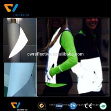 EN471 Tela de poliéster reflectante de alta visibilidad para chaleco de seguridad