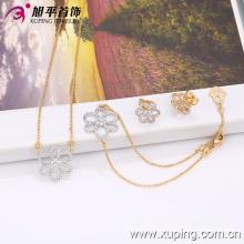 63358 moda elegante flor jóias conjunto para presentes da senhora