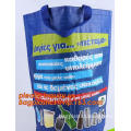 Promotional Cheap Customized Foldable Eco Fabric Tote woven Shopping Bag, Recyclable PP Non Woven Bags