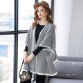 Lady Fashion Fischgrät Acryl Strickjacke Schal (YKY4515)