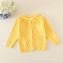 pull d'hiver pour les enfants / bébé dentelle pull / chemise de descente / 4 couleurs
