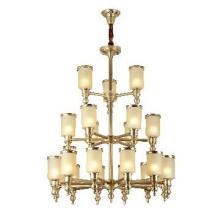 Brass Glass Chandelier Pendant Light