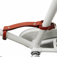 TOURBON Wholesale Brown Leather Bike Little Lifter Bicycle frame handle