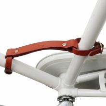 Оптовая продажа TOURBON коричневый кожаный велосипед маленький лифтер велосипед рама ручка