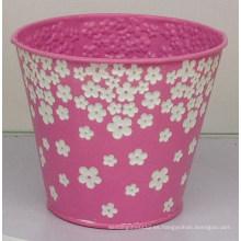 Cubo de flores en relieve tridimensional