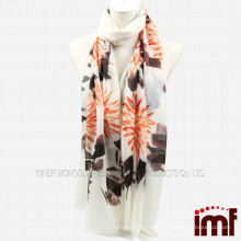 Chinese Traditional Ink Picture Hand Painted Pure Cashmere Scarf