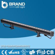 IP65 controlador DMX al aire libre RGB LED 18 * 3W arandela de la pared