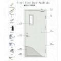 Fireproof Steel Door for Home, Surface Heat Transfer, Double Door