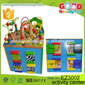 Four Sides Educational Wooden Cube Box Game Kindergarden Activity Play Center Baby Toy Cube