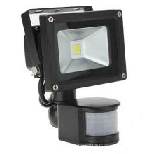 10W IP65 85-265V Capteur de mouvement PIR avec contrôleur infrarouge LED Floodlight