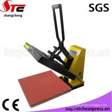 Machine d'impression plate manuelle de machine de presse de la chaleur de sublimation pour le tissu
