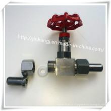 Válvula de corte de rosca externa de aço inoxidável