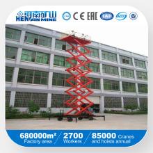 Mesa hidráulica móvil de elevación de tijera usada en interiores o al aire libre
