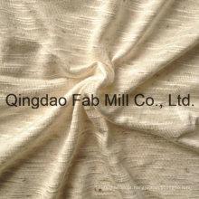 93% Rayon 7% tecido de confecção de malhas de linho (QF13-0681)