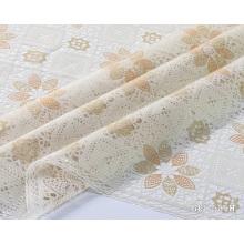 couverture de table en tissu de dentelle en plastique imprimé pvc