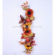 5 'Bountiful Harvest Garland con girasoles de Valerie