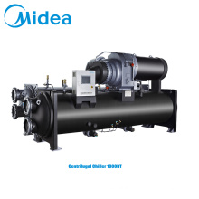 Midea high efficiency centrifugal chiller 1800RT 6329kw unique heat-exchanging technology water cool chiller china