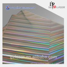 Colorful rainbow holographic metalized paper for printing and packaging