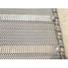 Cinta transportadora de malla de alambre para procesamiento de congelación / enfriamiento de alimentos