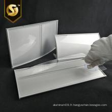 Signe de profils de plaque incurvée en aluminium de plaque de porte de bureau