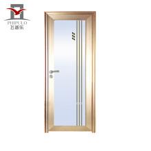 2018 alibaba última casa de diseño utiliza puerta de baño de aluminio