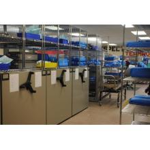 Porte-bagages en métal réglable pour pharmacie hospitalière