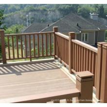 Clôture de jardin WPC de haute qualité de vente chaude avec SGS 160 * 160
