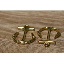 Occidental popular nuevo diseño de oro ancla colgante para pulsera
