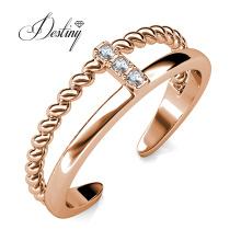 Classic Elegance Vintage Polished Open Erin Twist Ring Women Jewelry
