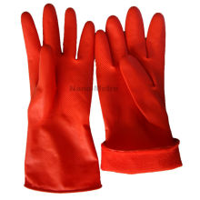NMSAFETY long sleeve 30cm red color winter latex household glove weight 40g/pair