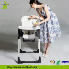 Silla de cena plegable fácil de la alta silla del nuevo diseño del bebé