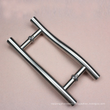 304 grade steel Ladder Style Pull Handle SS finish with customized diameter