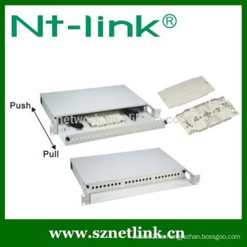 "Rackmontage 19 ""1U SC / LC / ST / FC24 Anschluss Fiber Optic Patch Panel"