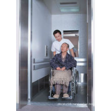 Machine roomless bed elevator with medical patient