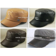 Factory wholesale blank leather flat top cap supplier