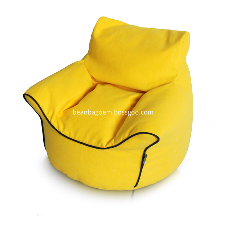yellow color Indoor sofa chair cover bean bag